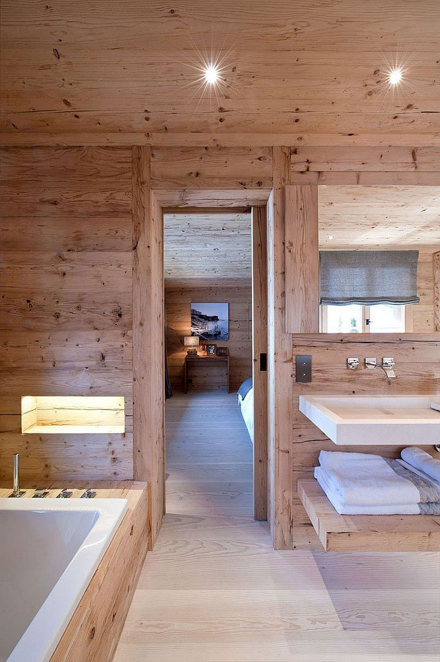 Spa Styled Bathroom Of The Luxurious Swiss Chalet