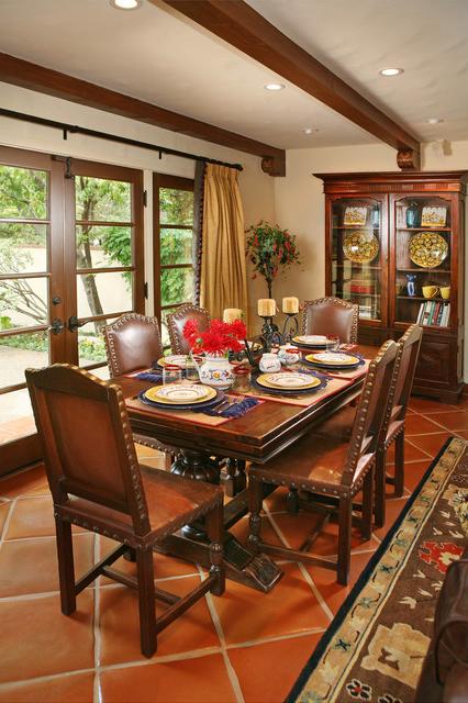 Spanish Revival Restoration Mediterranean Dining Room