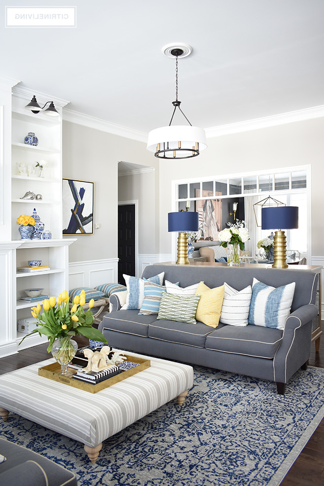 Spring Home Tour With Vibrant Yellows And Pretty Blues