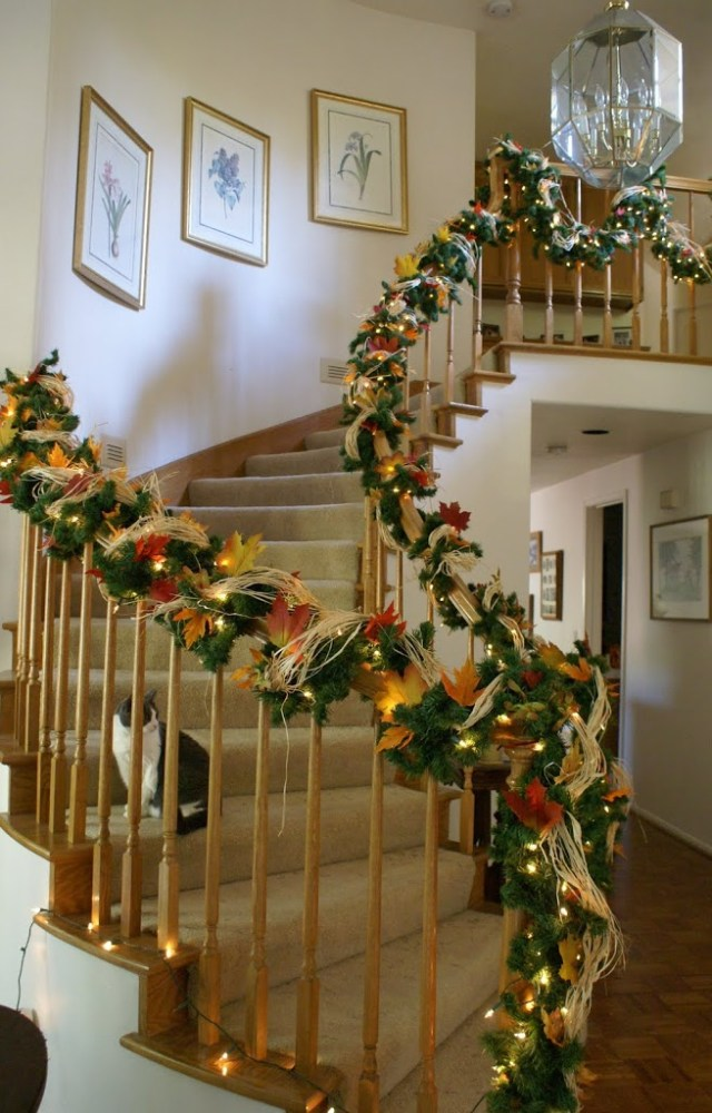 Staircase Decorations Two Holidays In One