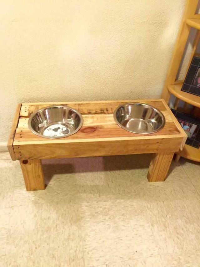 Sturdy Wooden Dog Bowls 125 Awesome Diy Pallet Furniture
