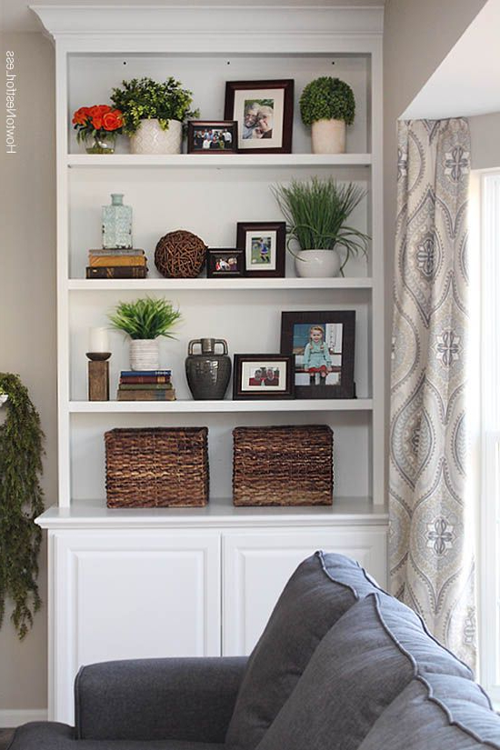 Styled Family Room Bookshelves Bookshelves In Living
