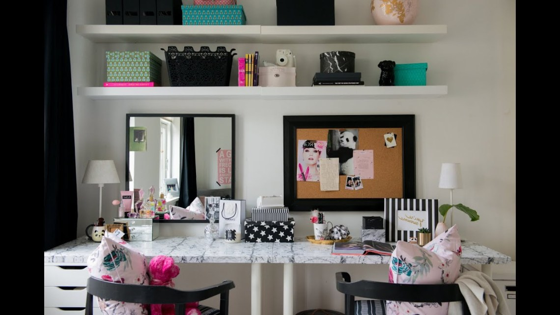 Teen Bedroom Makeover The Desk Vanity Diy Room Decor