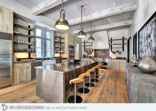 The 25 Best Industrial Kitchens Ideas On Pinterest Industrial House Brick Wall Kitchen And