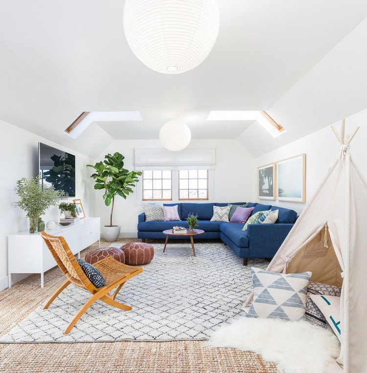 The Perfect Family Friendly Modern Boho Living Room