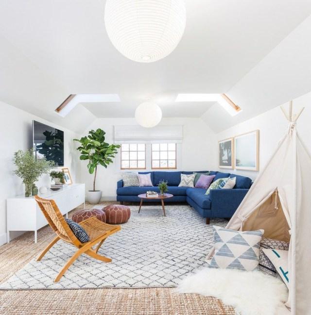 The Perfect Family Friendly Modern Boho Living Room