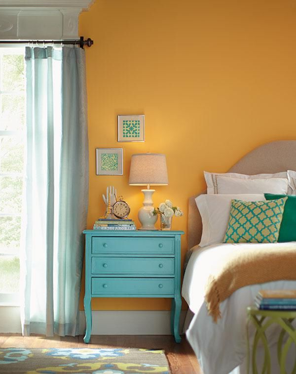 These Bedroom Walls Painted In Behrs Spiced Butternut