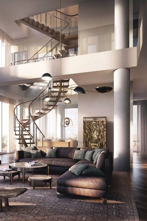 Those Stairs Complement The Openness In That Living Room