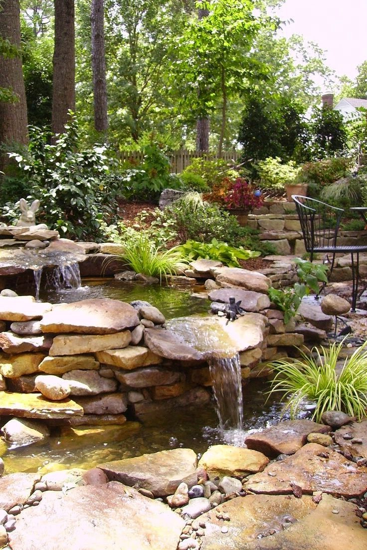Top 17 Brick Rock Garden Waterfall Designs Start An