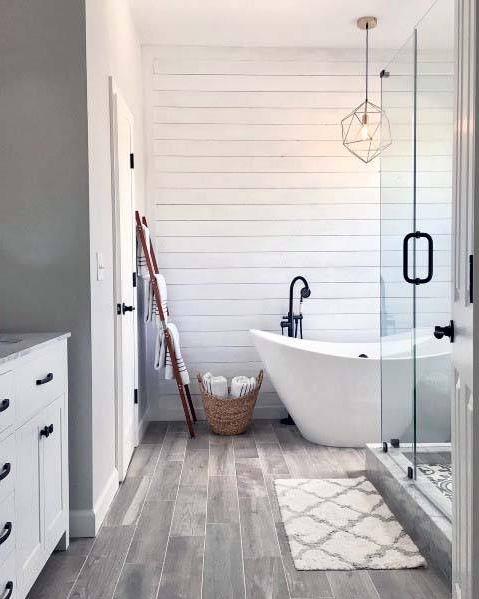 Top 50 Best Shiplap Bathroom Ideas Nautical Inspired