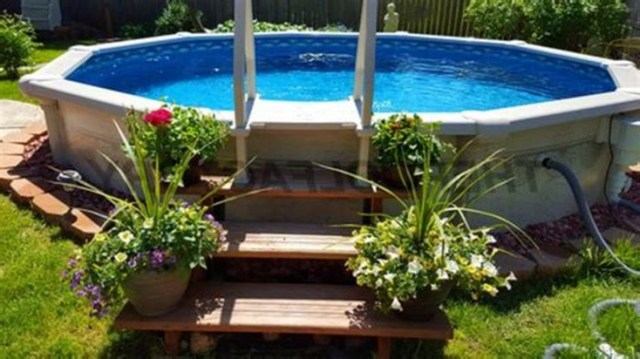 Top Top 5 Above Ground Pool Landscaping That Every People Need To See Httpsdecoo Backyard