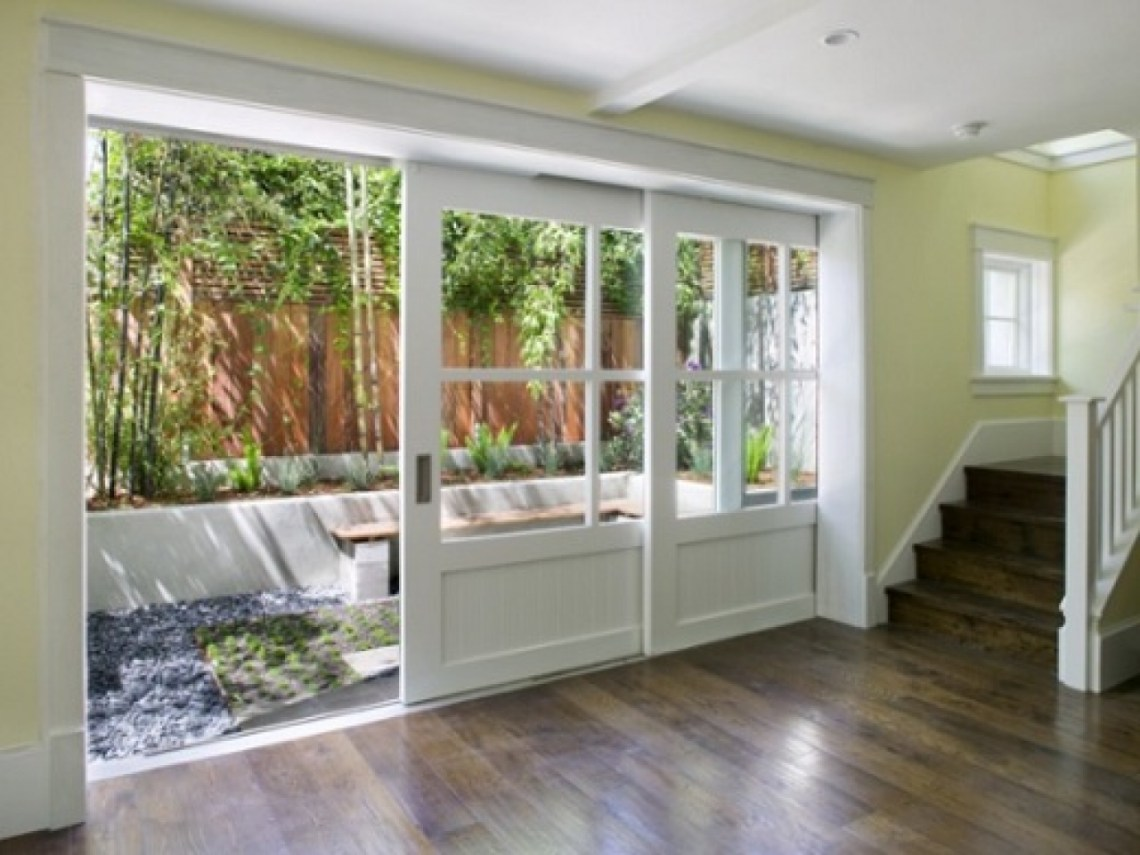 Towards The Backyard Apply Sliding Glass Doors You Can