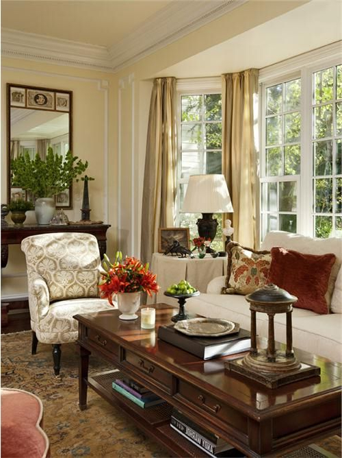 Traditional Victorian Colonial Living Room Timothy