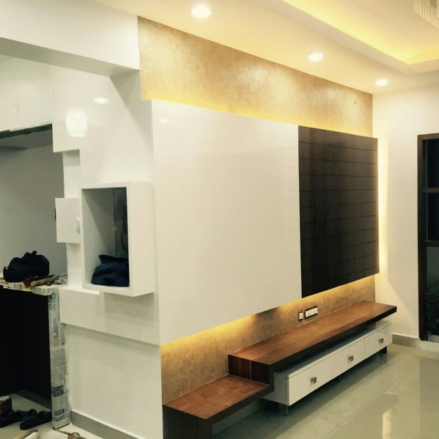 Tv Units Veneer With Duco Paint Living Room Tv Unit