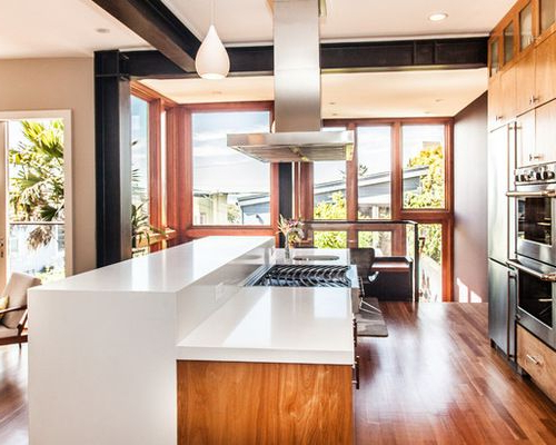 Two Tiered Island With Waterfall Countertop Google