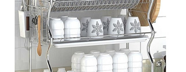 Ultimate Kitchen 3tier Stainless Steel Dish Drainer Drying