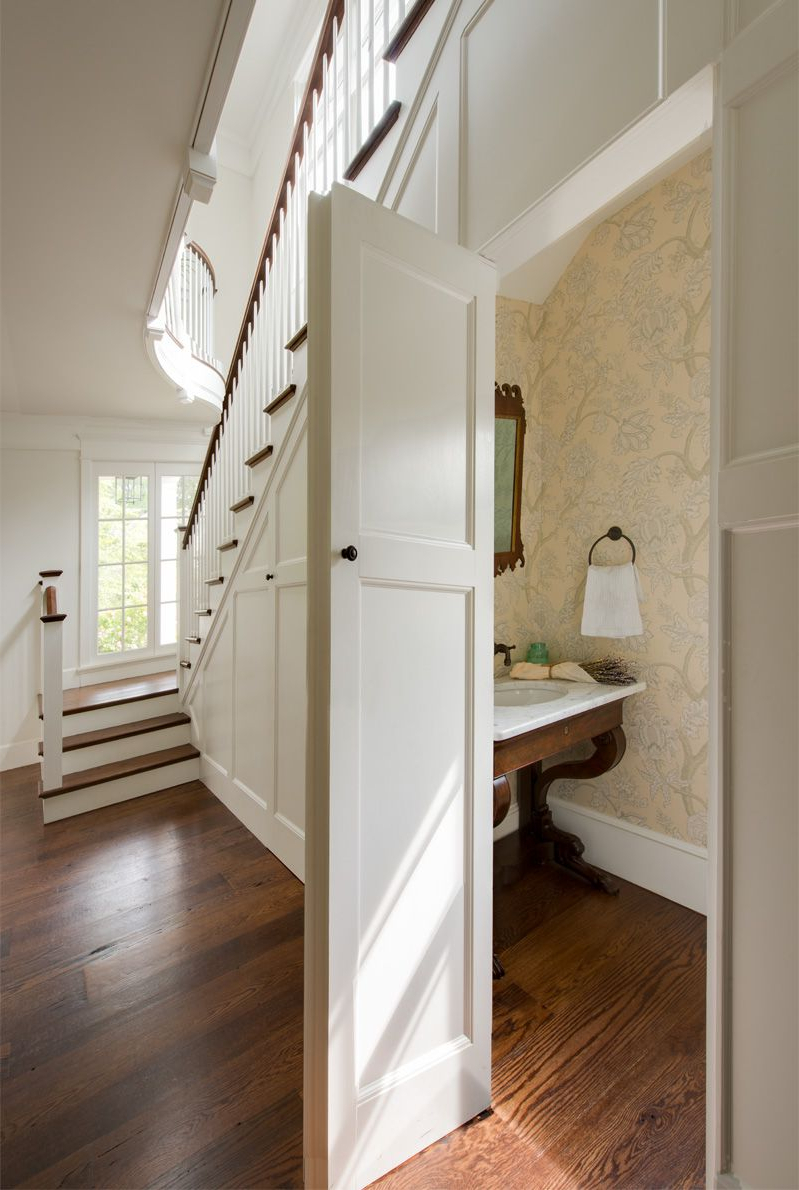 Under The Stairs Powder Room Donald Lococo Architects