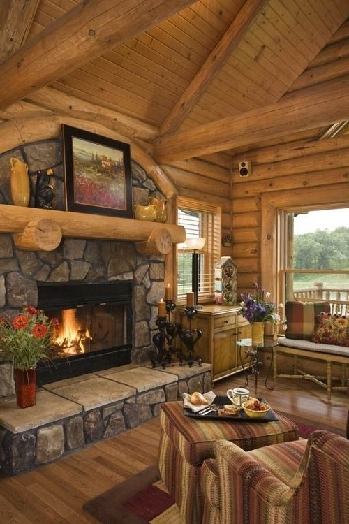 Unique And Attractive Rustic Living Room Ideas
