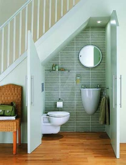 Unique Small Bathroom Understairs Designs Ideas 15