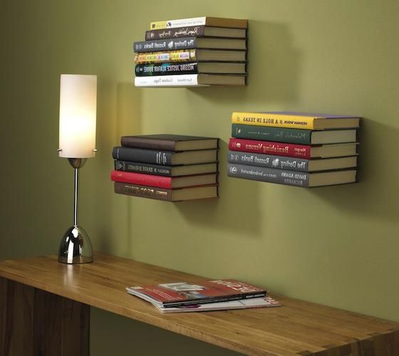 Unvisible Bookshelfes Bookshelves Diy Floating