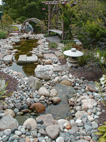 Using The Rocks From The Front Yard For A Feature In The
