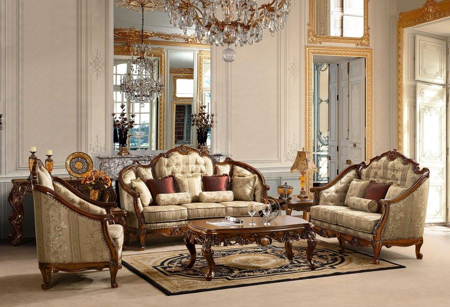Victorian Style Living Room Sofa Sets Furniture