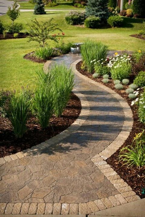 Walkway To Backyard Easy Landscaping Backyard