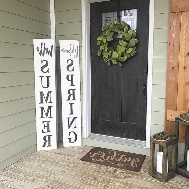 Welcome Spring Hello Summer Reversible Wood Sign Welcome