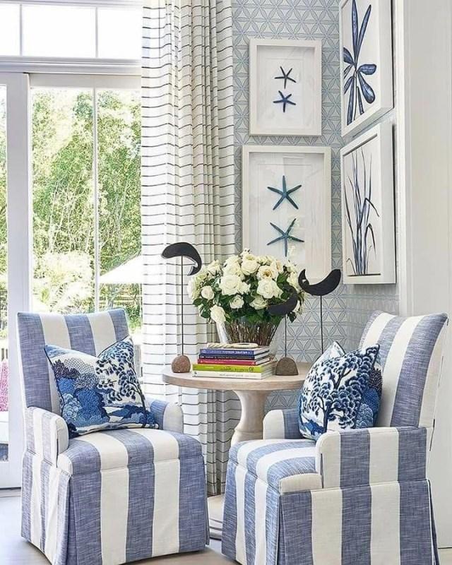 What Beautiful Coastal Beach Home Decor Love The Blue And