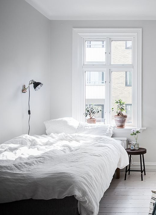 White Living Space Small Apartment Bedrooms Small