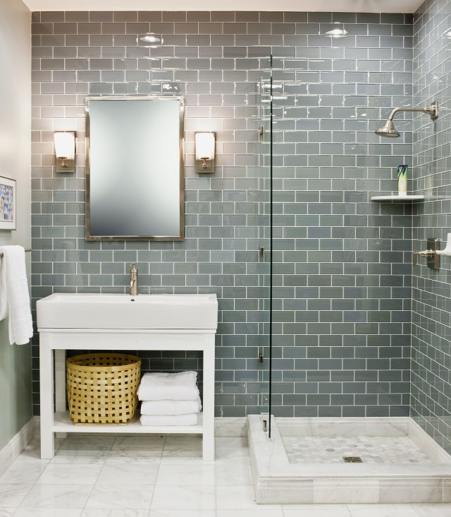 White Vanity With Pale Blue Caesar Stone Top Would Look
