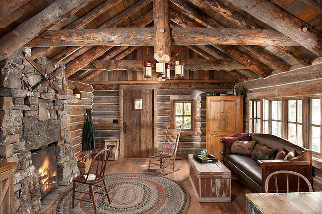 Whitefish Montana Private Historic Cabin Remodel Rustic