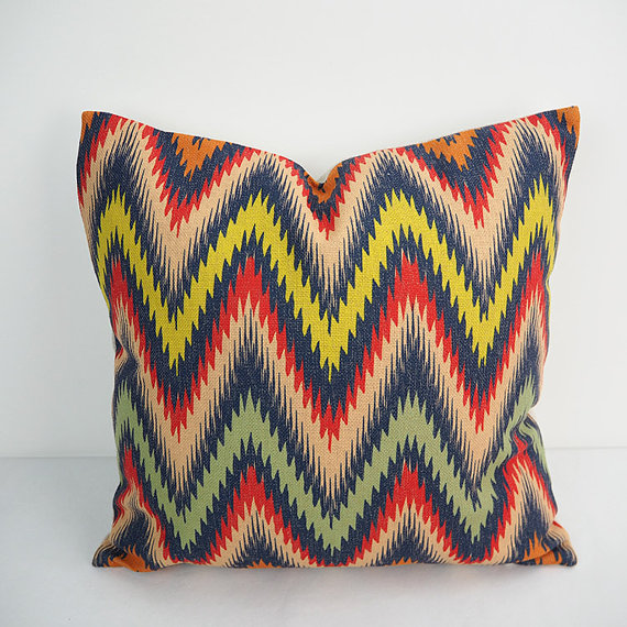chevron pillow extra large cushion covers 24 inch pillow covers ikat