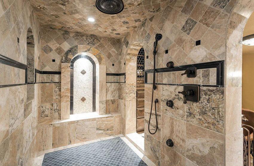 21 travertine shower ideas bathroom