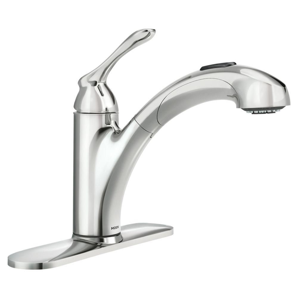 banbury single handle pull out sprayer kitchen faucet with power clean in chrome