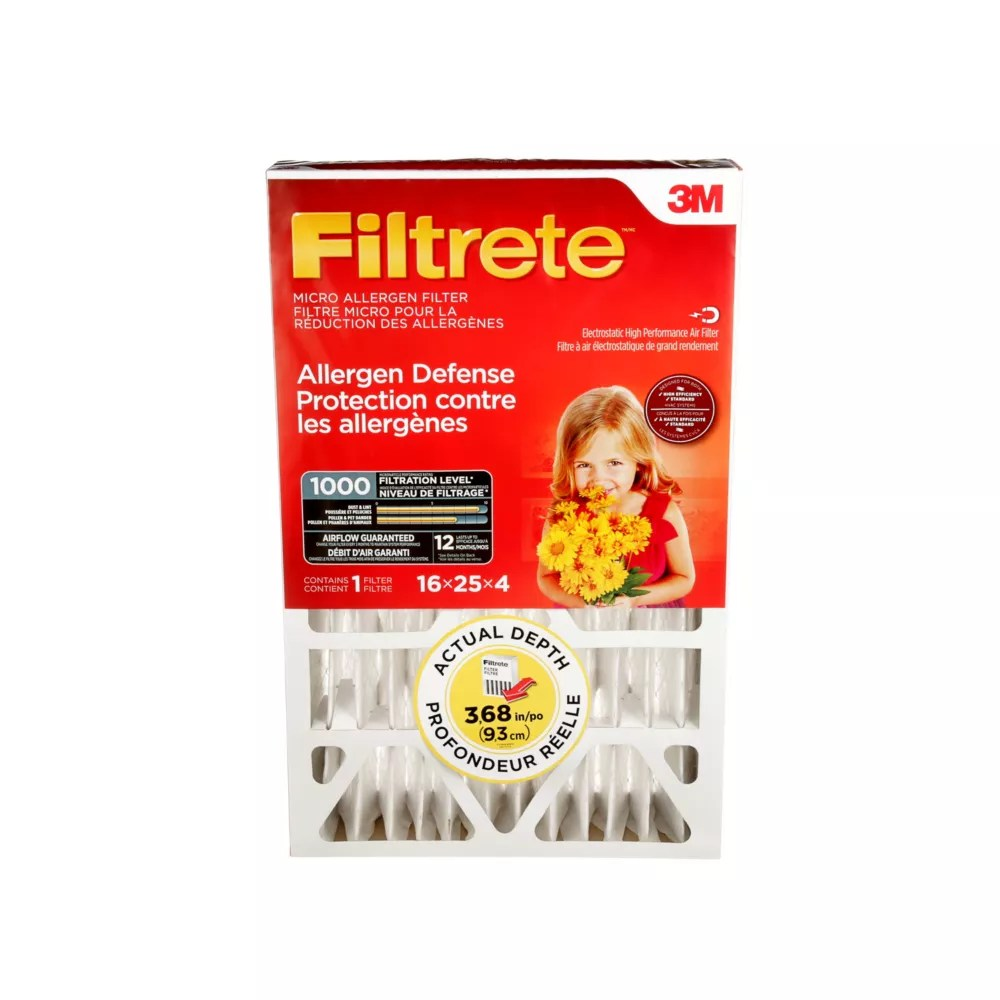 Filtrete Filters 16 Inch X 25 Inch X 4 Inch Allergen Reduction Mpr 1000 Deep Pleated Filtr The Home Depot Canada