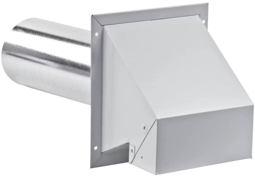 6 inch r2 exhaust hood with screen white