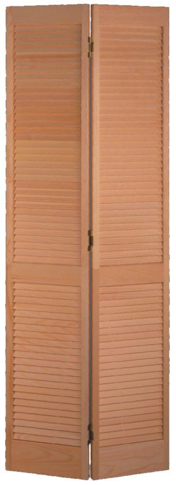 Masonite Porte Pliante Persienne Complete Pin Clair 30 Po X 80 Po Home Depot Canada