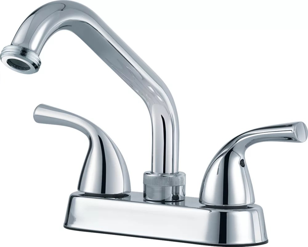 classic two handle laundry faucet chrome