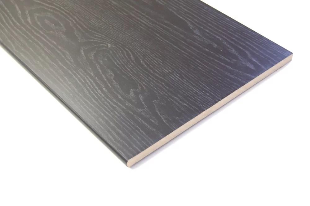 tablette noire en mdf a bord arrondi 5 8 po x 15 1 4 po x 96 po
