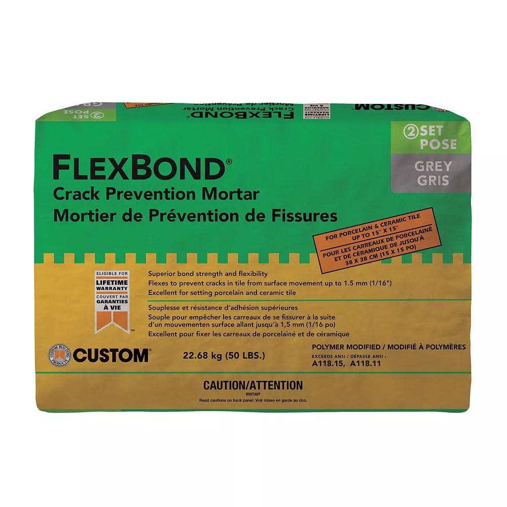 flexbond fortified thin set mortar 22 7kg gray