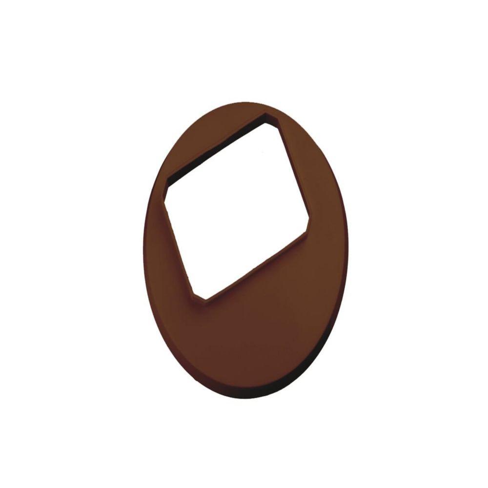 2 inch x 3 inch vinyl drain tile cover in brown
