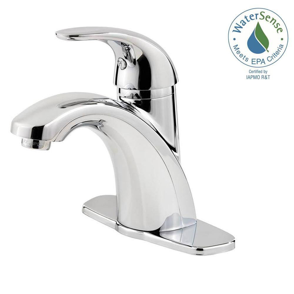 parisa single hole 1 handle mid arc bathroom faucet in chrome with lever handle
