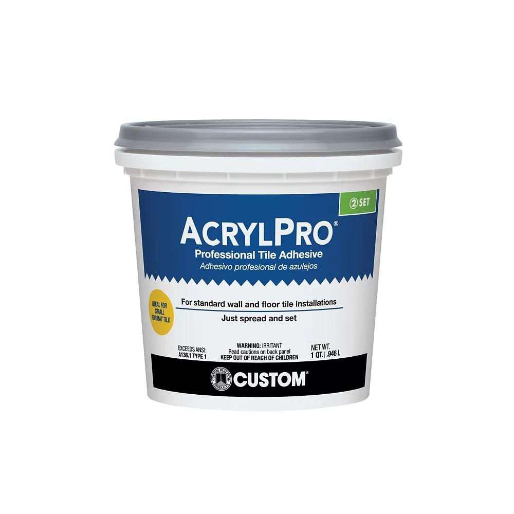acrylpro ceramic tile adhesive type i quart