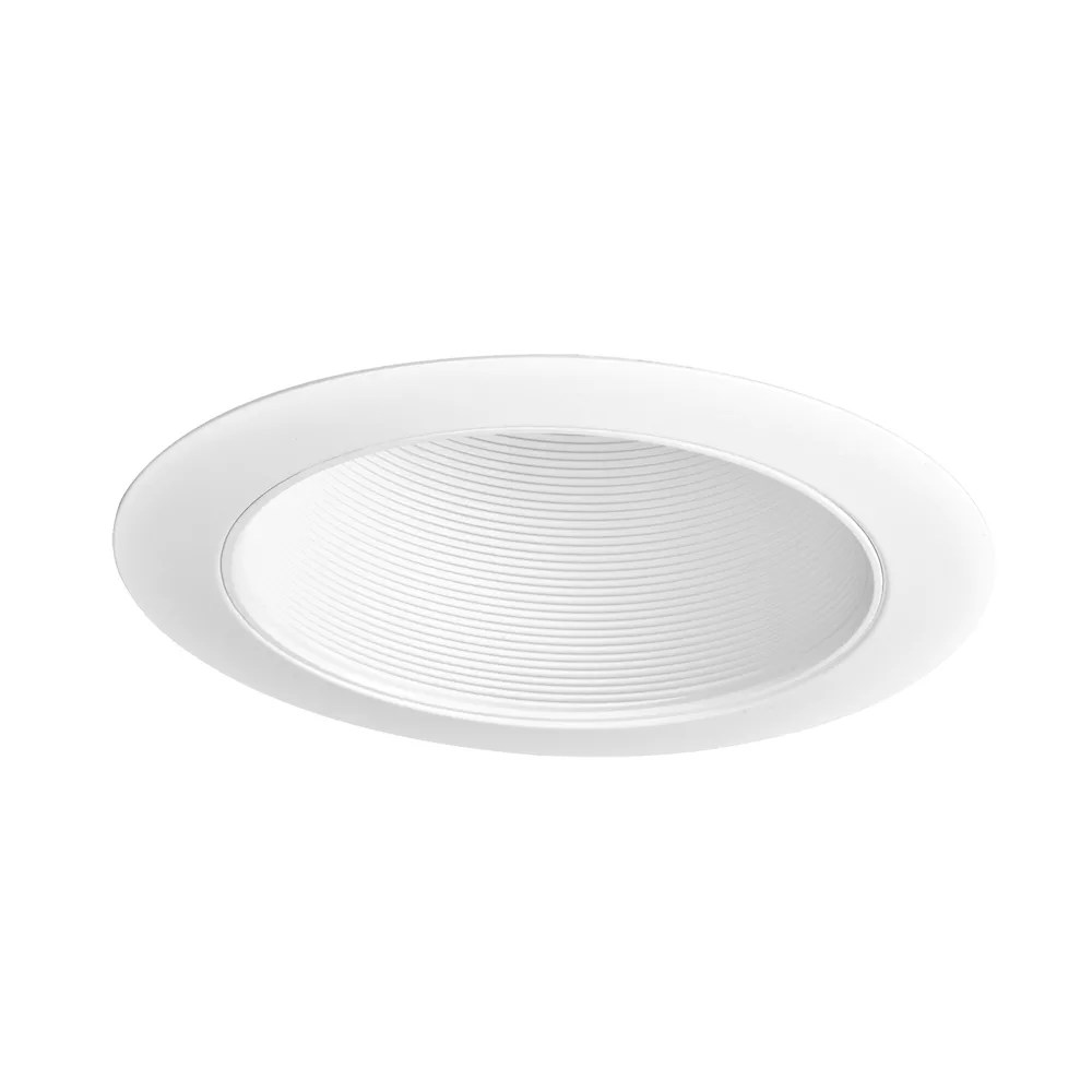6 inch white recessed lighting with sloped ceiling trim with baffle