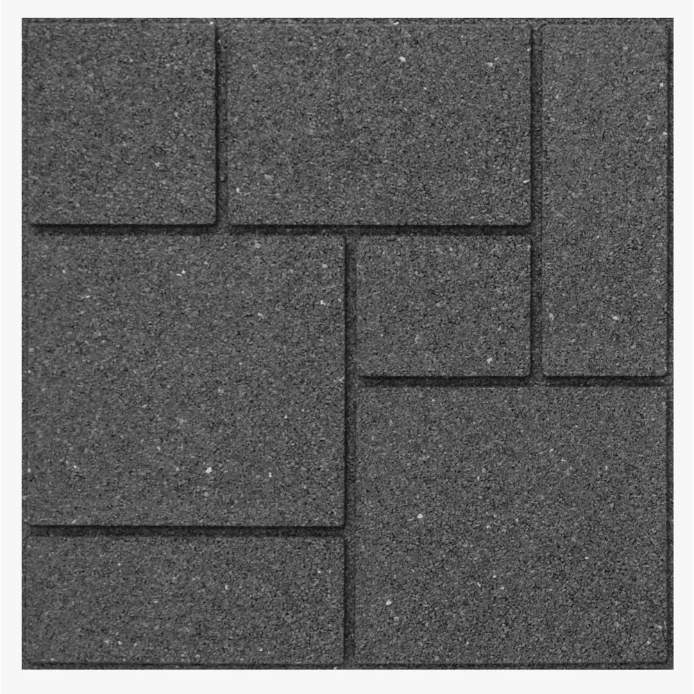 envirotile landscaping supplies cobblestone 18 in x 18 in grey paver
