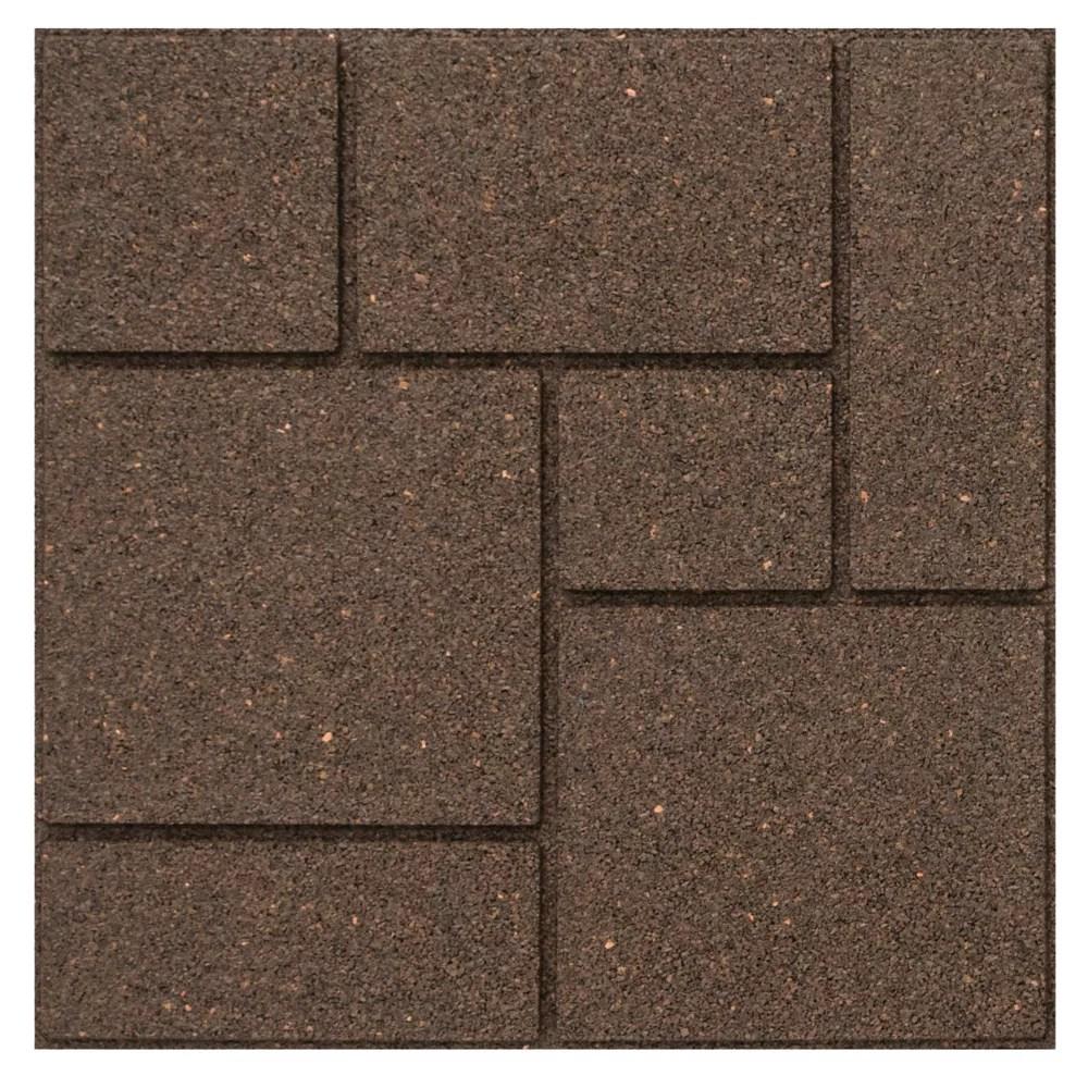 18 inch x 18 inch cobblestone envirotile stepping stone earth