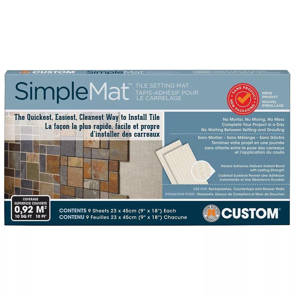 Custom Building Products Simplemat 10 Sq Ft Tile Setting Mat The Home Depot Canada