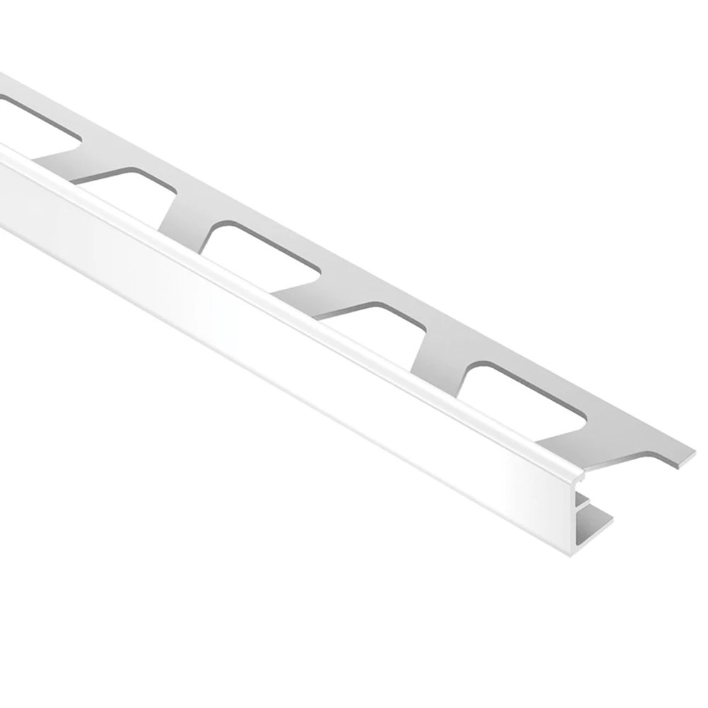 jolly bright white 5 16 in x 8 ft 2 1 2 in pvc l angle tile edging trim