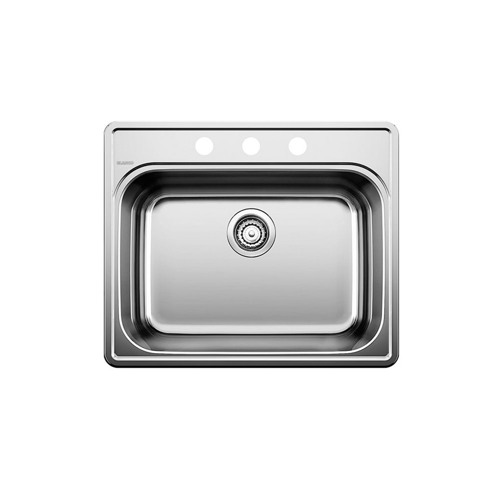 essential 1 drop in kitchen sink 3 hole stainless steel